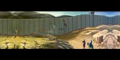 Hacia Belén va una burra... y se topa con un muro de 12 mts de alto que le impide el paso