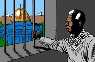 Mandela en Palestina